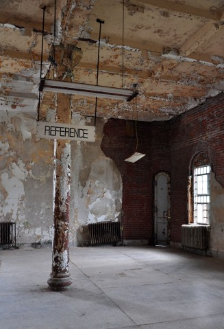Ohio State Reformatory, Mansfield Reformatory, Shawshank Redemption, library, Ohio