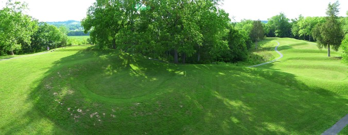 panoramic view of Great Serpent Mound, Ohio