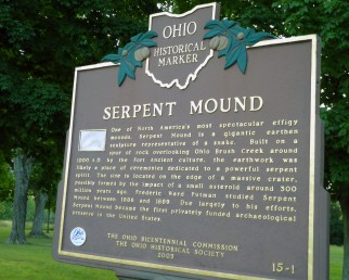 serpent mound ohio sign