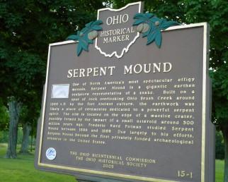 serpent mound ohio sign