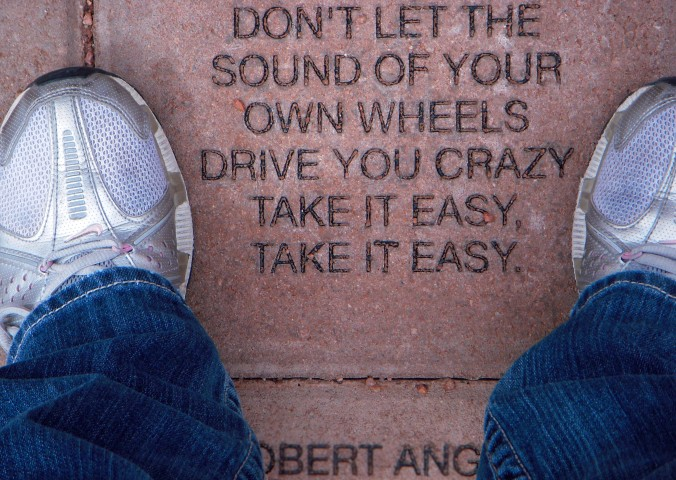 Winslow, Arizona, Route 66, Eagles, Take It Easy lyrics