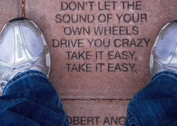 Winslow, Arizona, Route 66, Eagles, Take It Easy lyrics