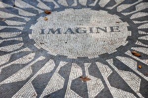 Strawberry fields, John Lennon, monument, New York City, New York