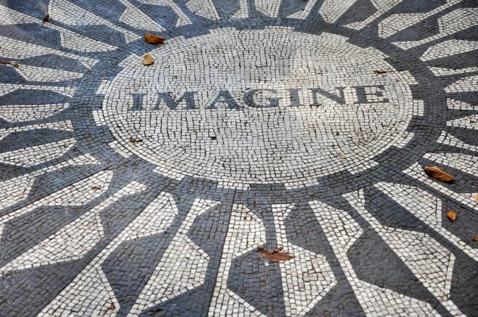 Strawberry fields, John Lennon, monument, New York City, New York