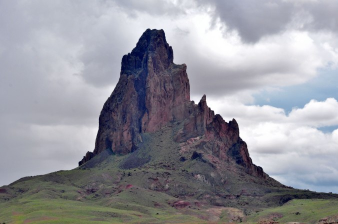 Arizona Butte against cloudy sky