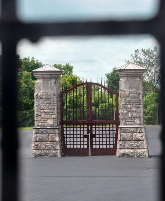 Ohio State Reformatory gate through window