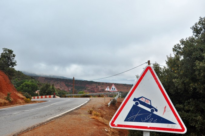 road signs, Morocco, Africa