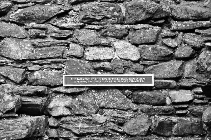 castle stone wall, Scotland, UK