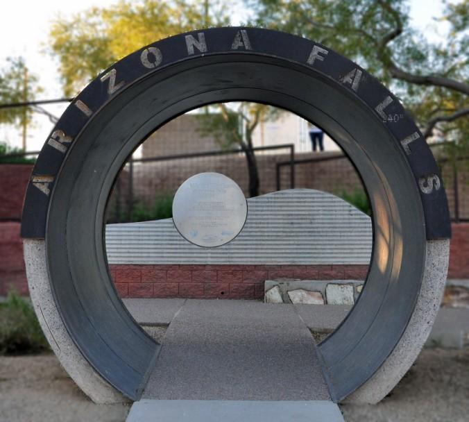 circles, Arizona Falls, Phoenix, Arizona