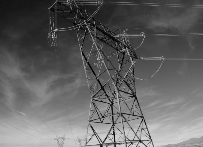 transmission line, black and white