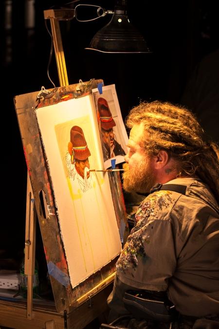 Painter, First Friday, Phoenix, Arizona