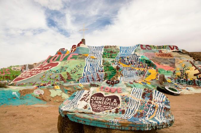 Salvation Mountain, Imperial County, California, art, desert