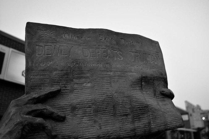 Rapid City, South Dakota, Presidential walking tour, black and white