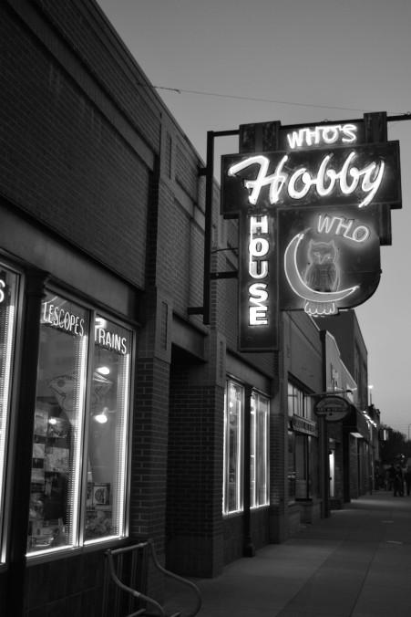 South Dakota, Rapid City, black and white sign