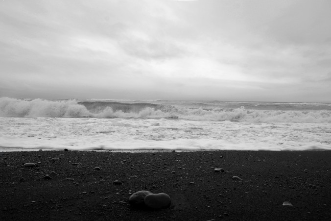 Black beach at Vik Iceland