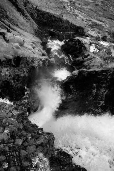 Black and white waterfall, Iceland, pondertheirrelevant.com